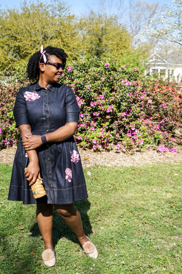 46e292bcf9 Denim Rose Shirt Dress – prepfordwife